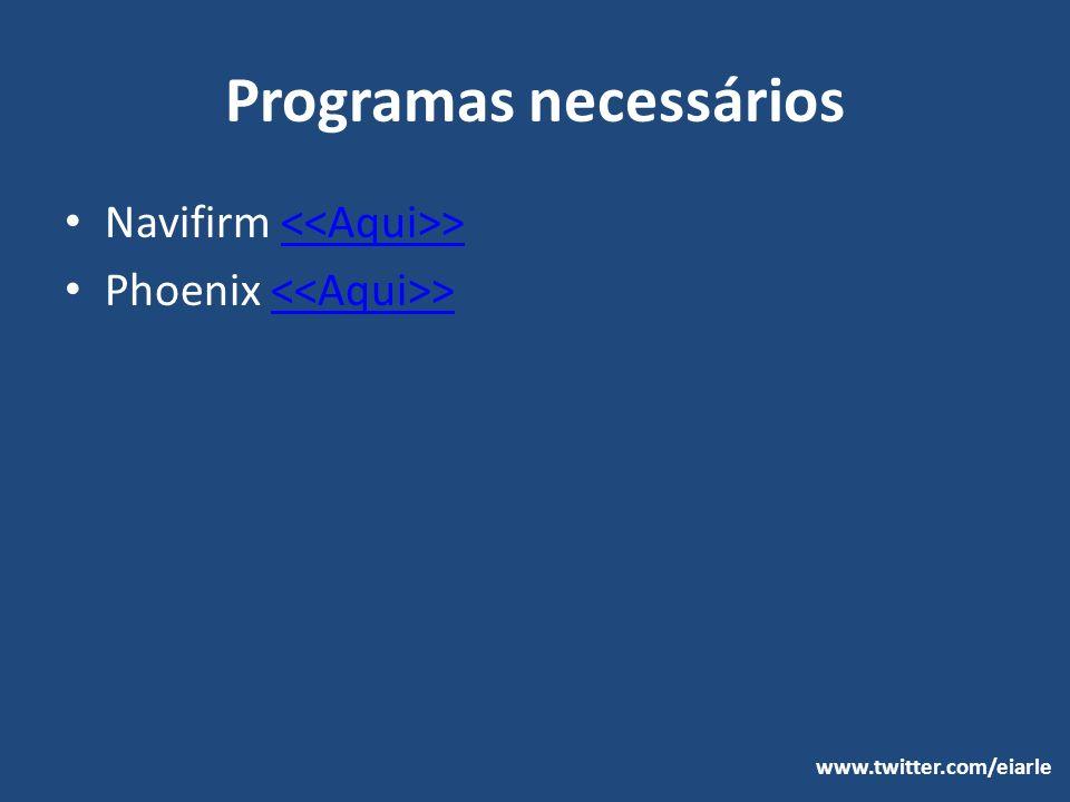 Programas necessários