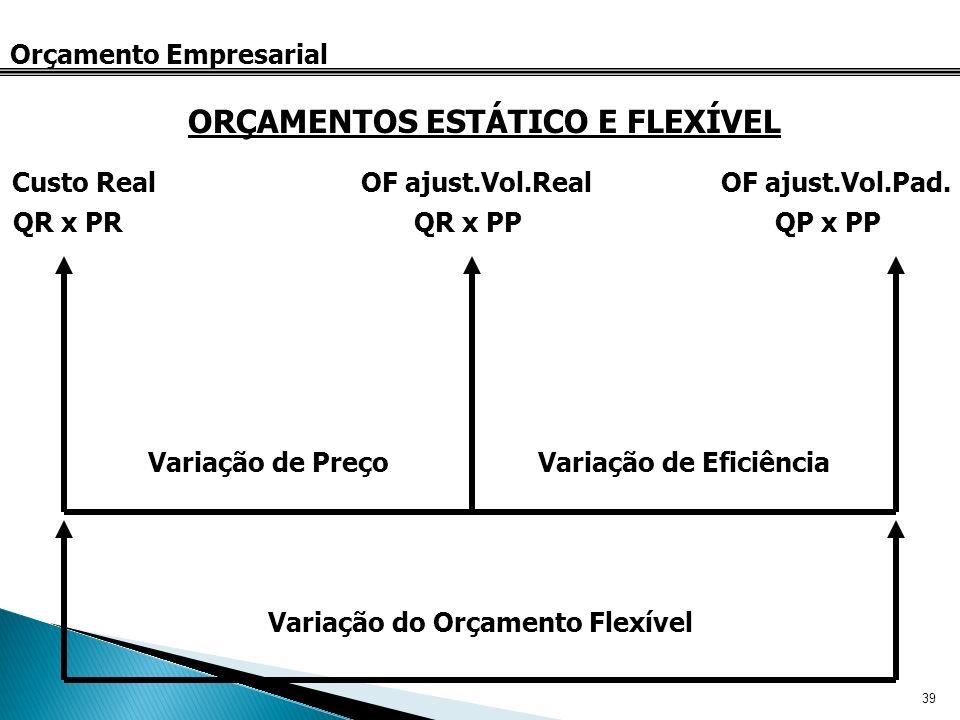 ORÇAMENTOS ESTÁTICO E FLEXÍVEL