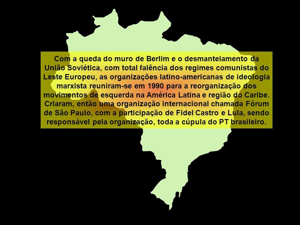 Com a queda do muro de Berlim e o desmantelamento da União Soviética, com total falência dos regimes comunistas do Leste Europeu, as organizações latino-americanas de ideologia marxista reuniram-se em 1990 para a reorganização dos movimentos de esquerda na América Latina e região do Caribe.