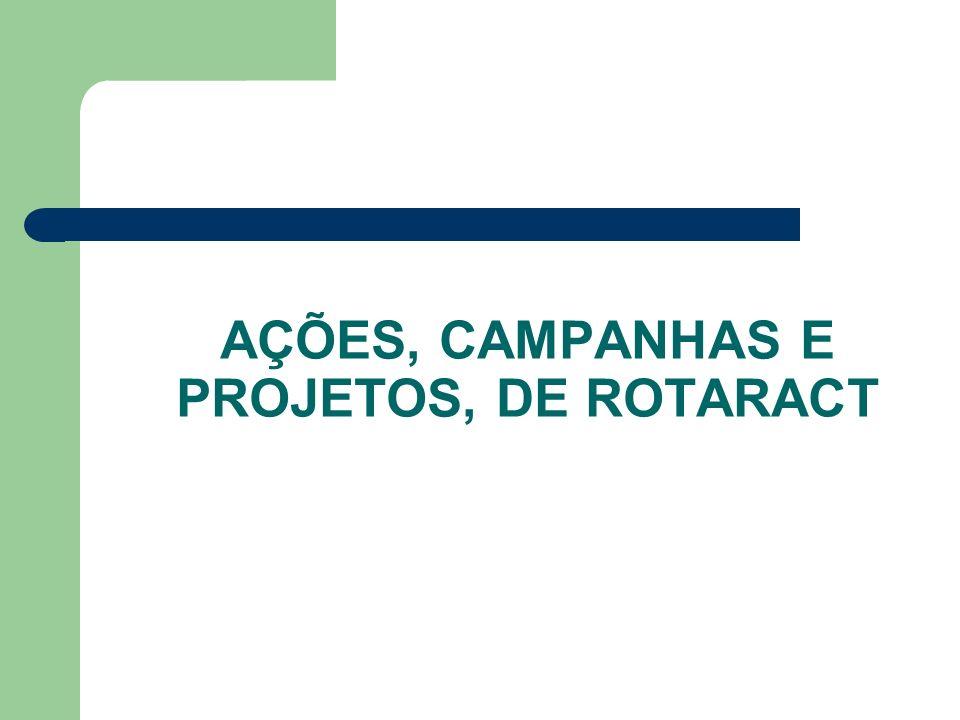AÇÕES, CAMPANHAS E PROJETOS, DE ROTARACT