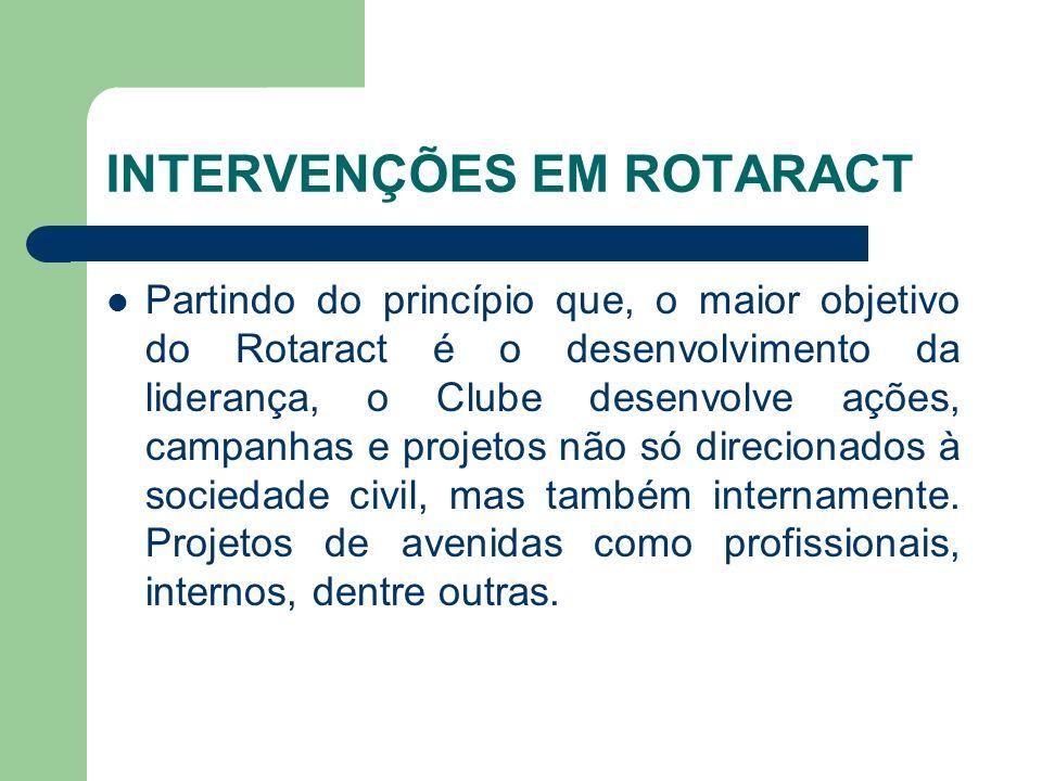 INTERVENÇÕES EM ROTARACT