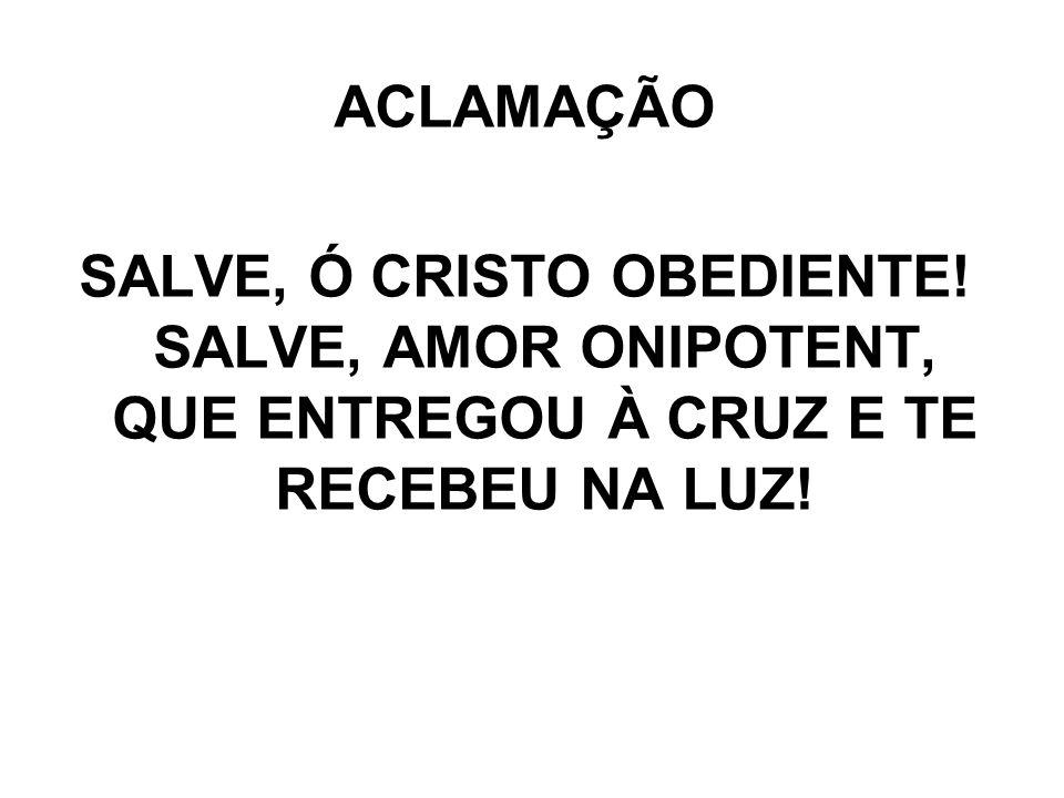 ACLAMAÇÃO SALVE, Ó CRISTO OBEDIENTE.