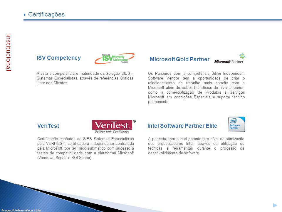 Certificações Institucional ISV Competency Microsoft Gold Partner