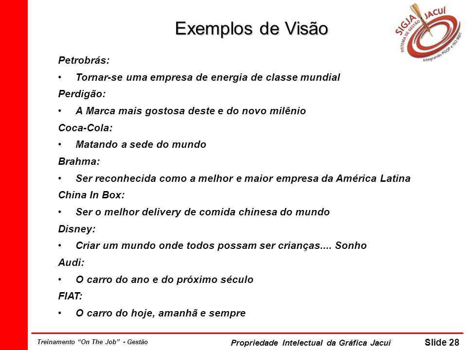 Exemplos de Visão Petrobrás: