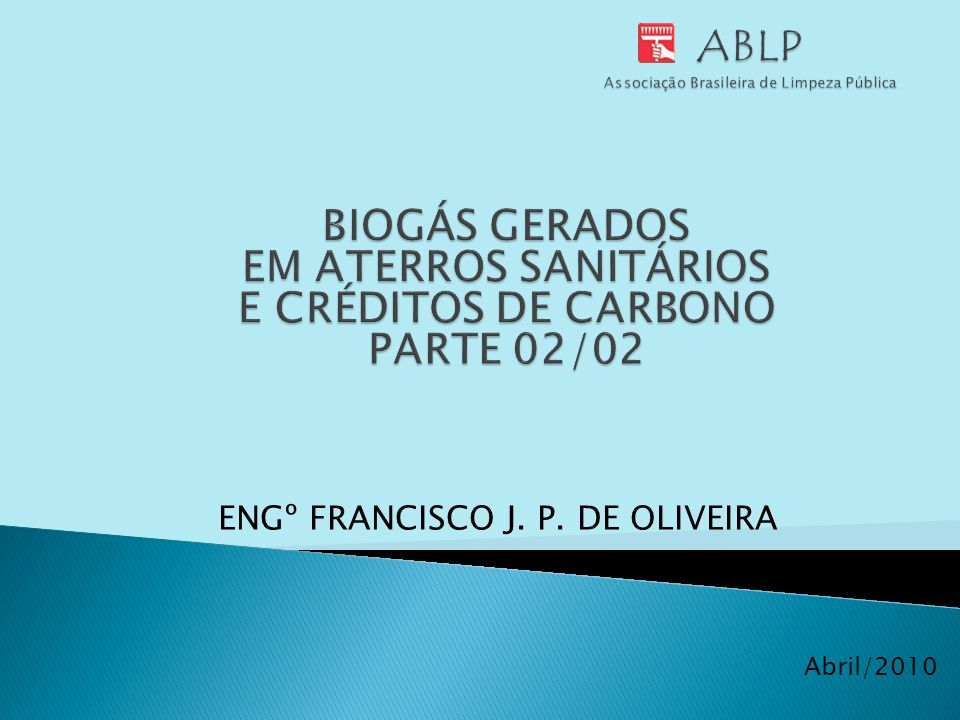 ABLP Associação Brasileira de Limpeza Pública