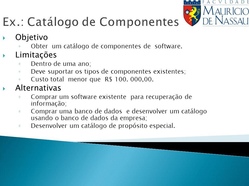 Ex.: Catálogo de Componentes