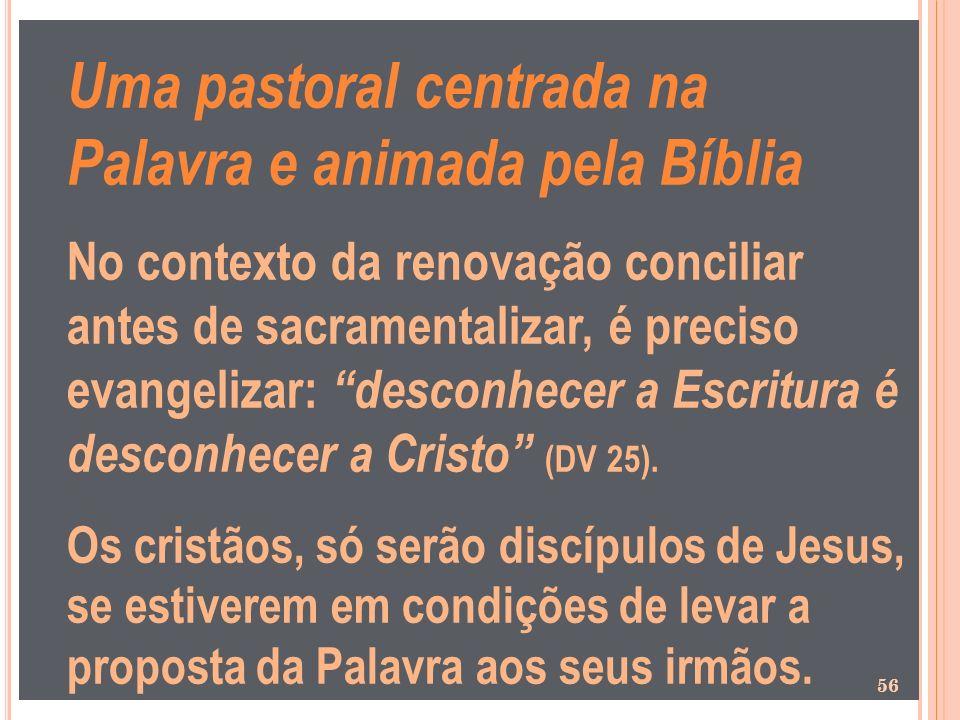 Uma pastoral centrada na Palavra e animada pela Bíblia