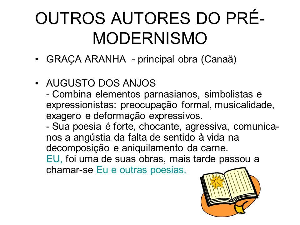 OUTROS AUTORES DO PRÉ-MODERNISMO