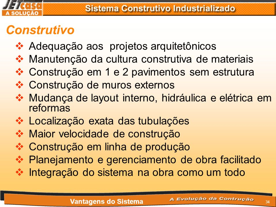 Construtivo Adequação aos projetos arquitetônicos