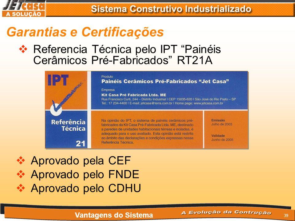 Garantias e Certificações