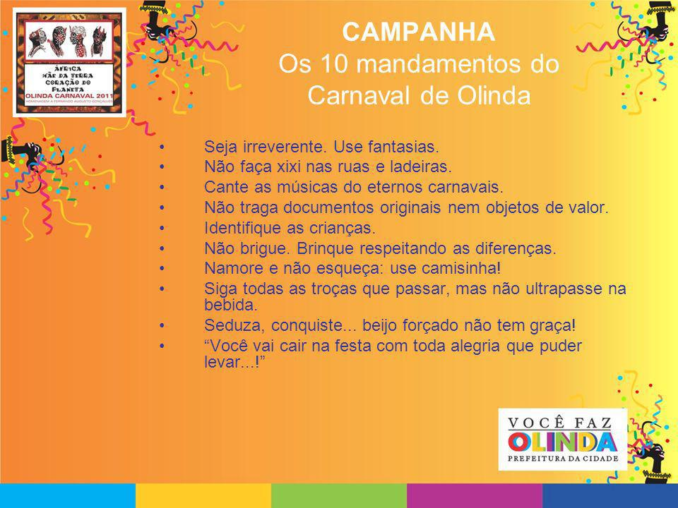 CAMPANHA Os 10 mandamentos do Carnaval de Olinda