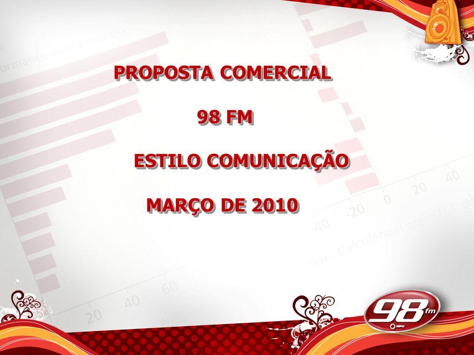 PROPOSTA COMERCIAL 98 FM ESTILO COMUNICAÇÃO MARÇO DE 2010