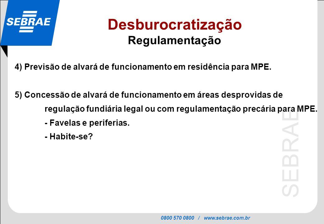 Desburocratização Regulamentação