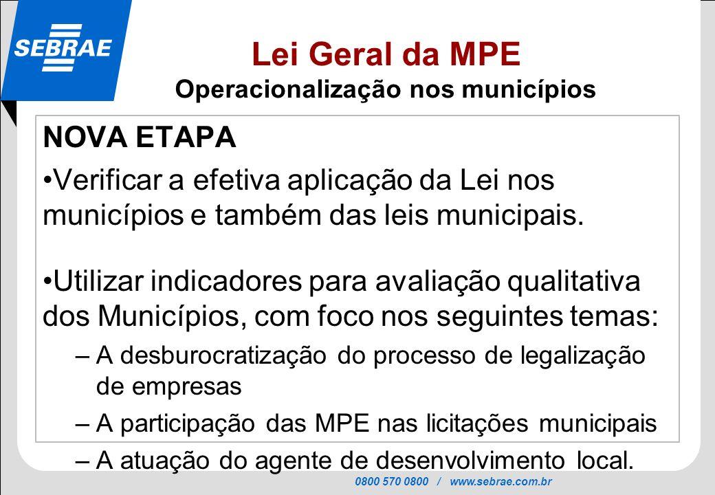 Operacionalização nos municípios