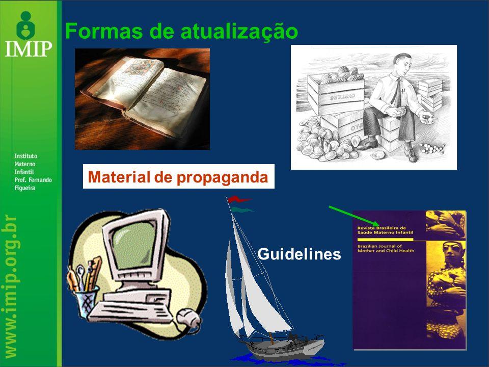 Formas de atualização Material de propaganda Guidelines