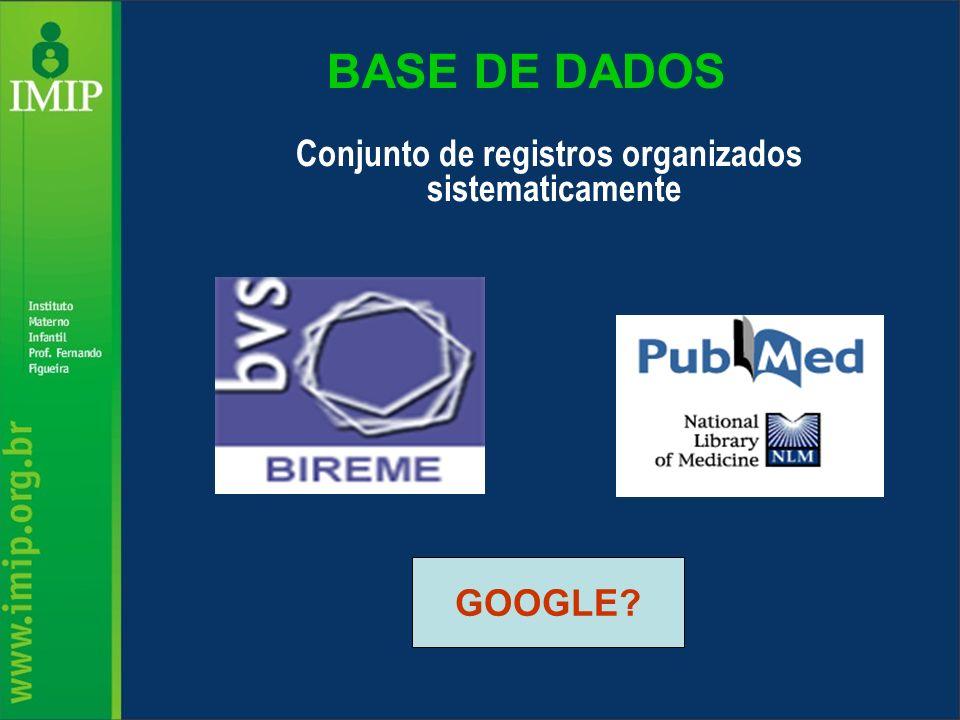 Conjunto de registros organizados sistematicamente