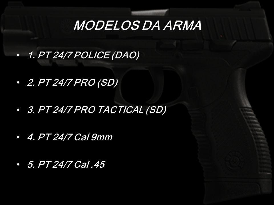 MODELOS DA ARMA 1. PT 24/7 POLICE (DAO) 2. PT 24/7 PRO (SD)