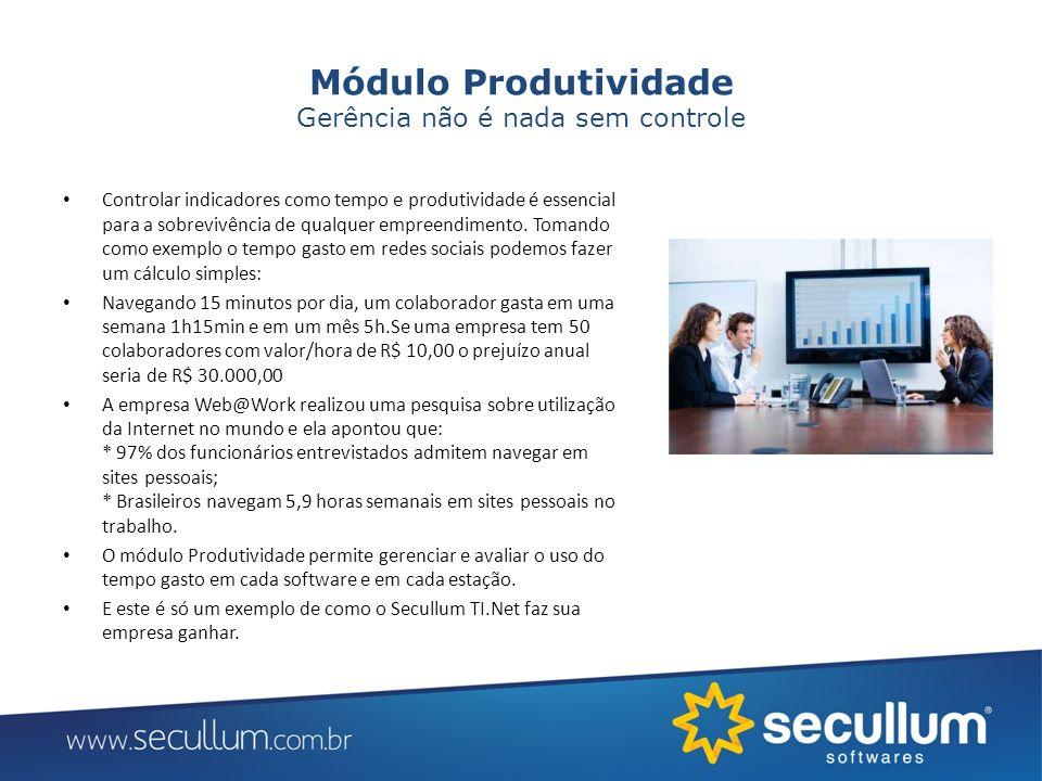 Módulo Produtividade Gerência não é nada sem controle