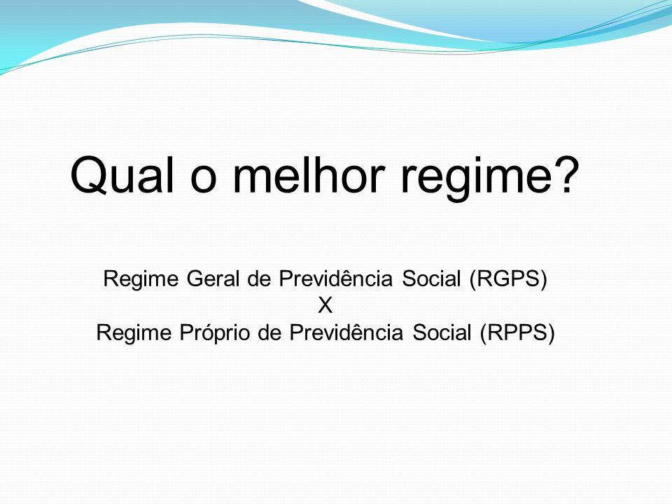 Qual o melhor regime Regime Geral de Previdência Social (RGPS) X