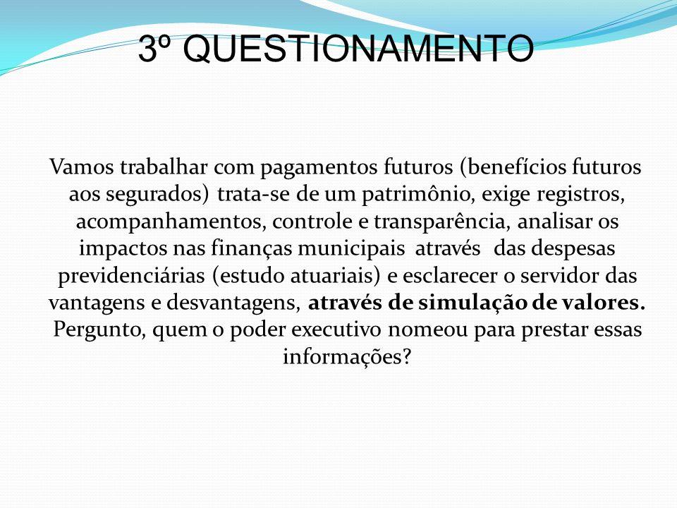 3º QUESTIONAMENTO