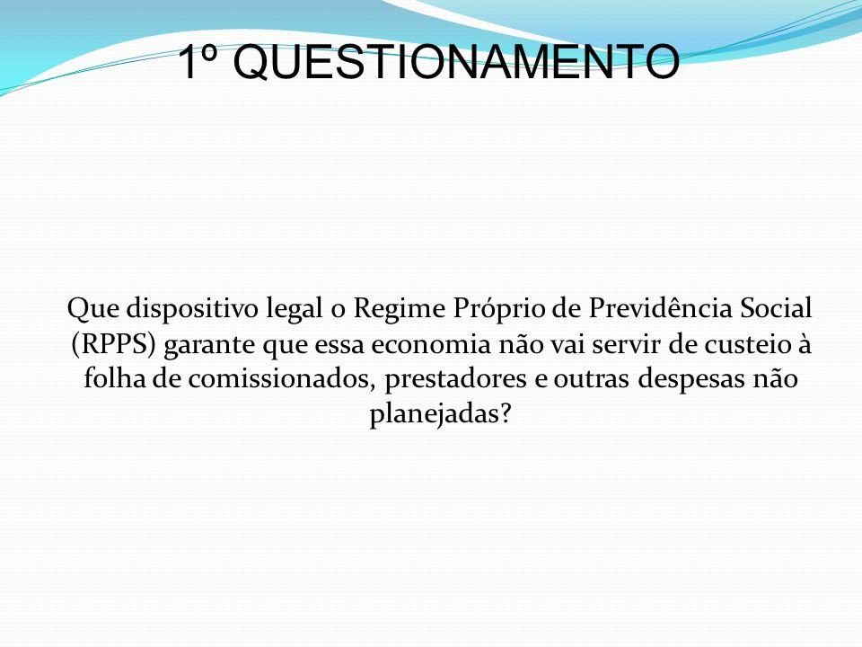1º QUESTIONAMENTO