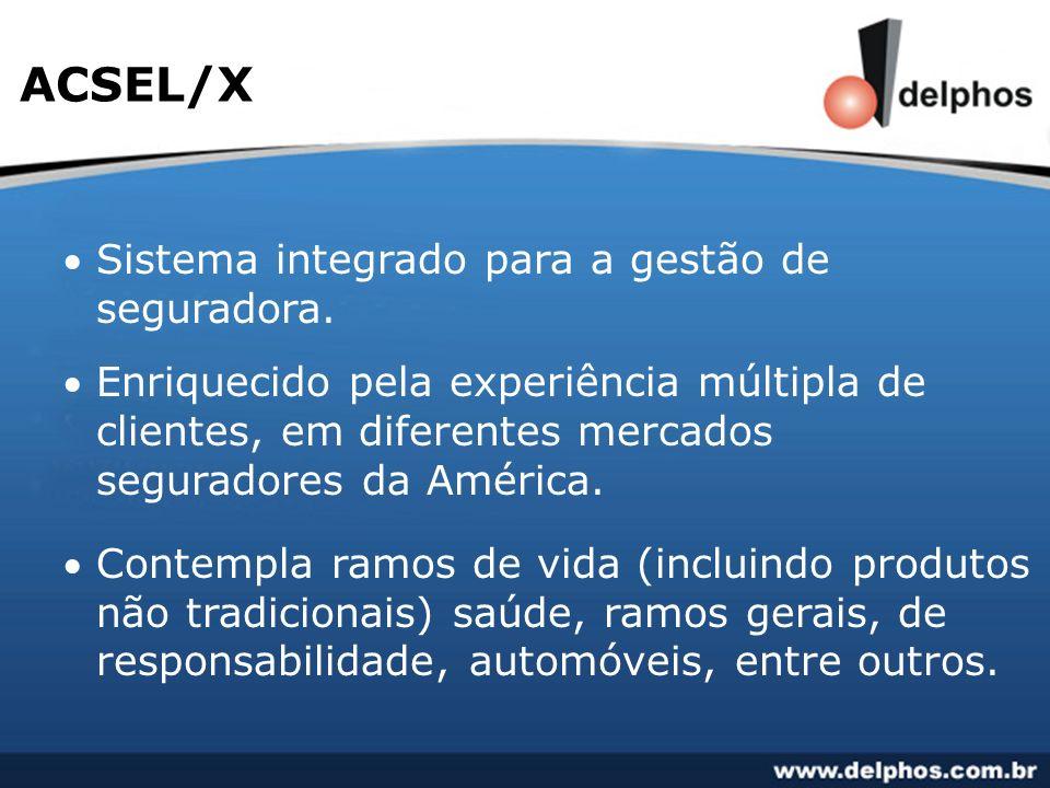 ACSEL/X Sistema integrado para a gestão de seguradora.