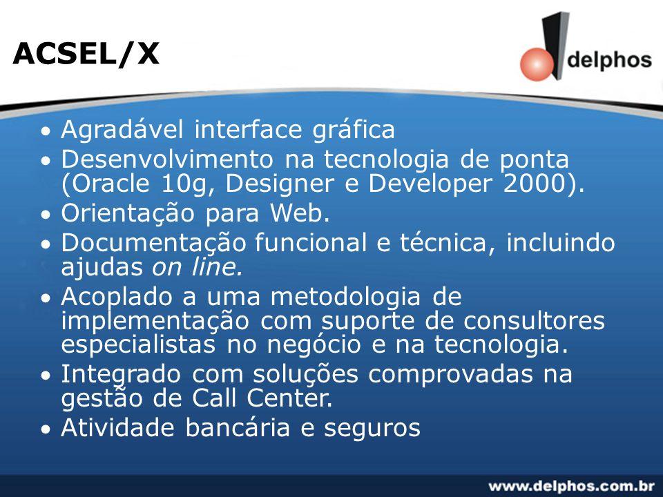 ACSEL/X Agradável interface gráfica