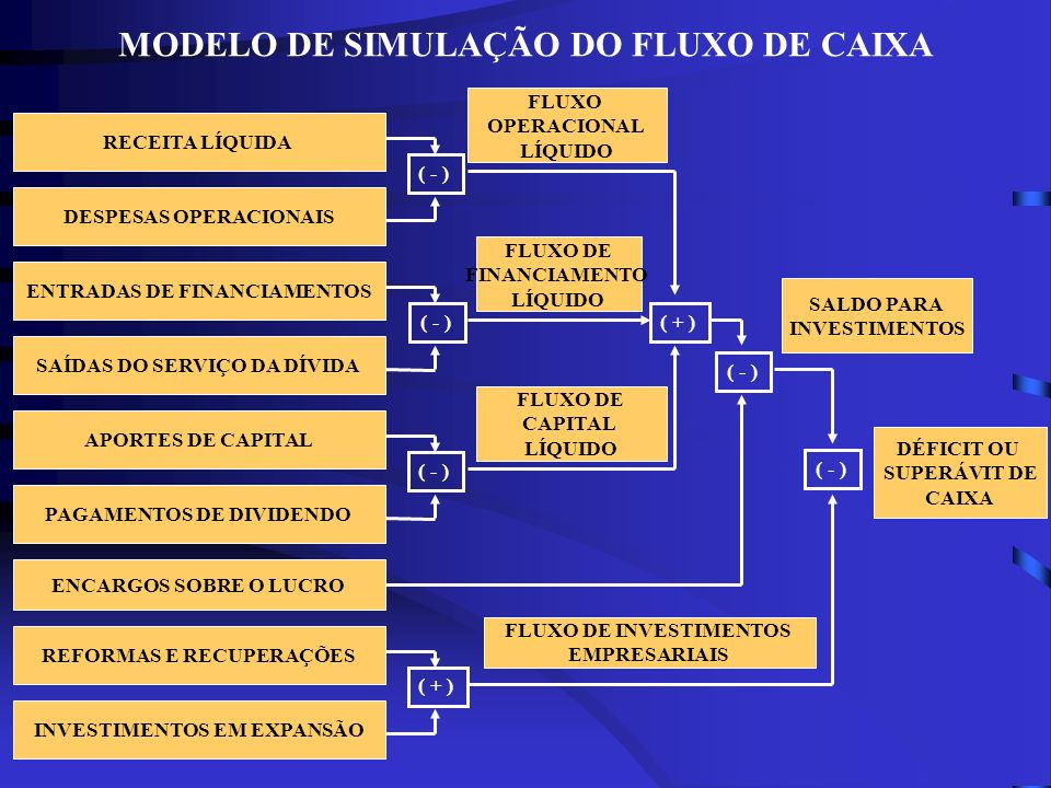 MODELO DE SIMULAÇÃO DO FLUXO DE CAIXA