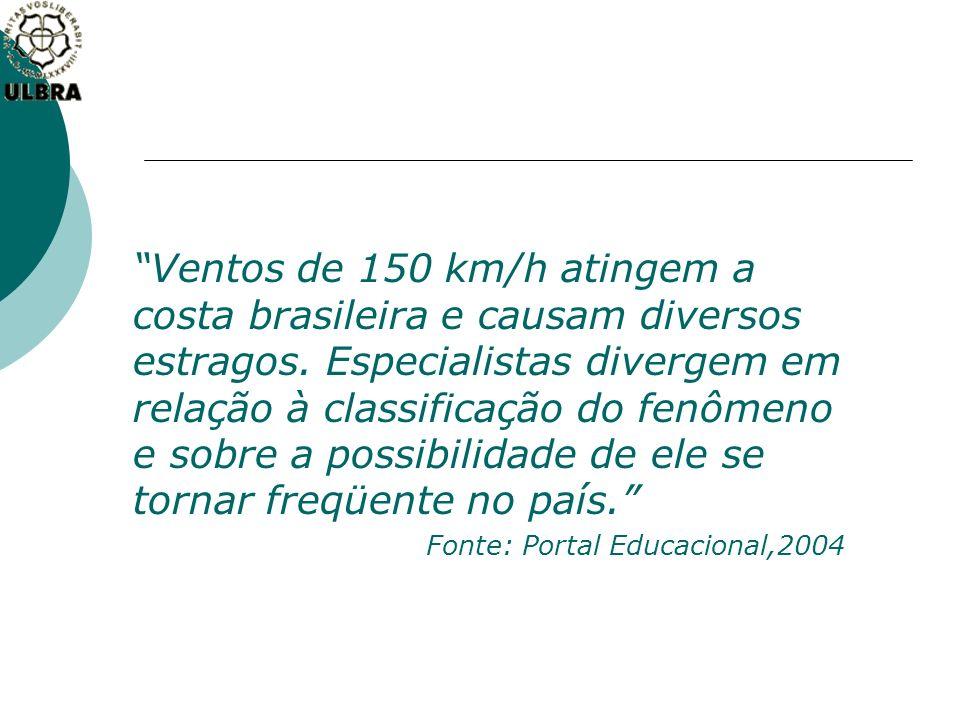 Ventos de 150 km/h atingem a costa brasileira e causam diversos estragos. Especialistas divergem em relação à classificação do fenômeno e sobre a possibilidade de ele se tornar freqüente no país.