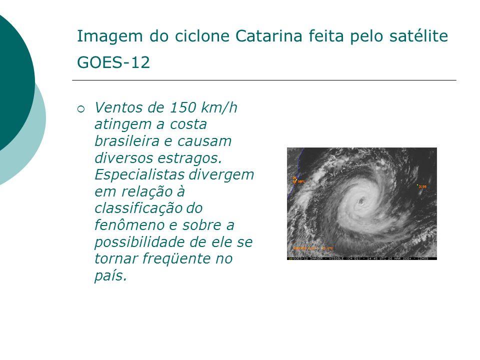 Imagem do ciclone Catarina feita pelo satélite GOES-12