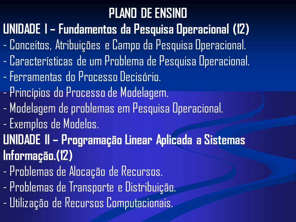 PLANO DE ENSINO