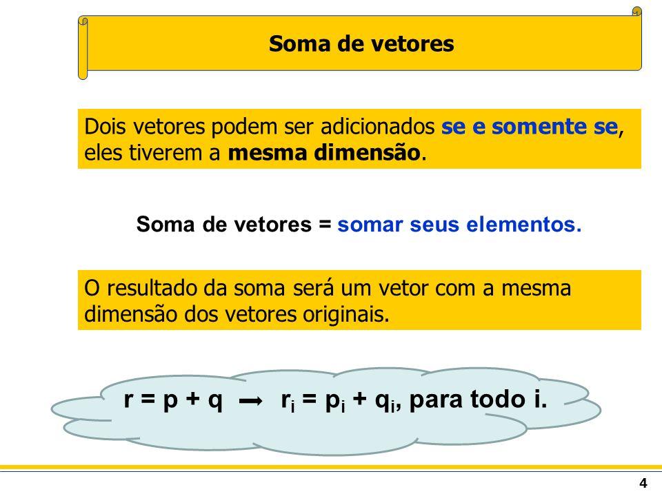 r = p + q ri = pi + qi, para todo i.