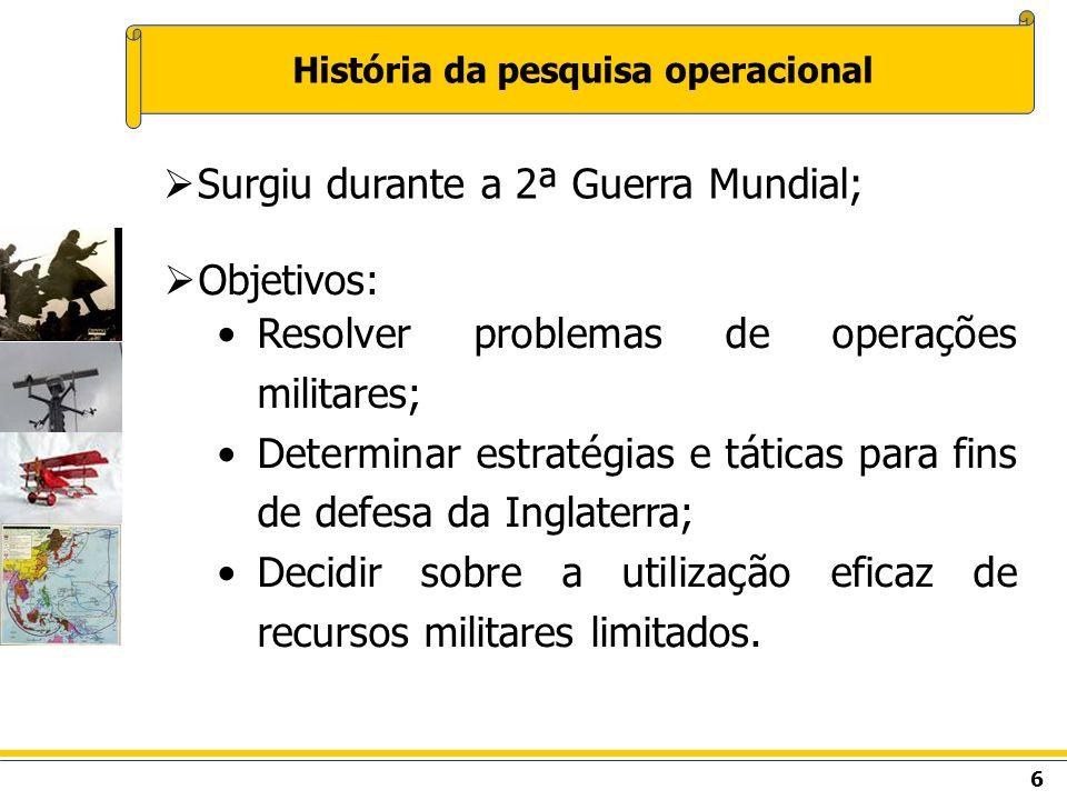 História da pesquisa operacional
