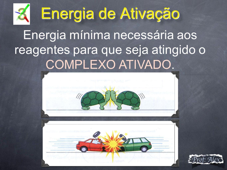 Energia de Ativação Energia mínima necessária aos reagentes para que seja atingido o COMPLEXO ATIVADO.