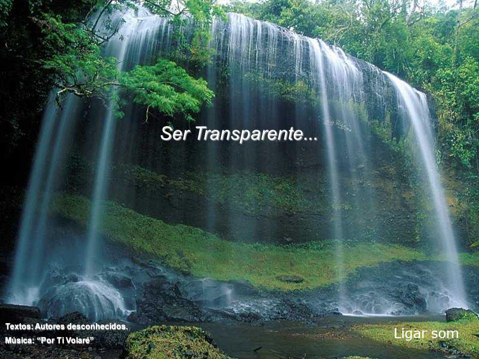 Ser Transparente... Ligar som Textos: Autores desconhecidos.