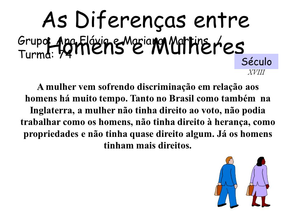 As Diferenças entre Homens e Mulheres