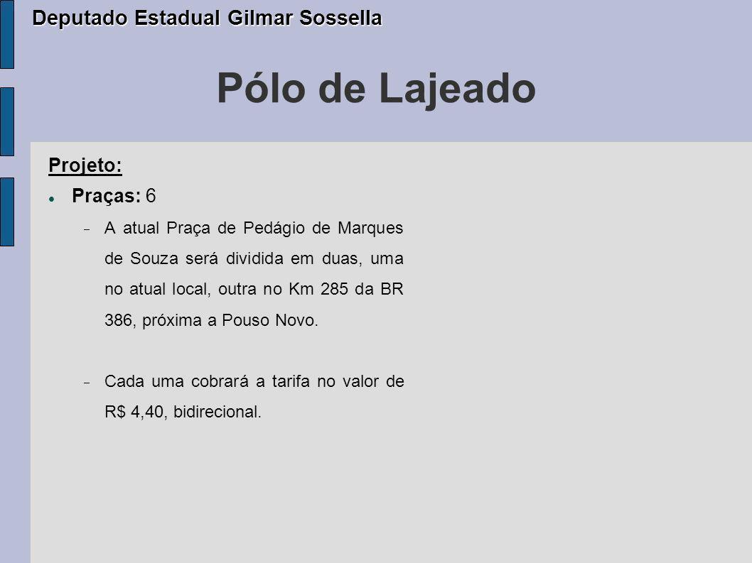 Pólo de Lajeado Deputado Estadual Gilmar Sossella Projeto: Praças: 6