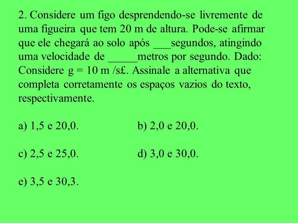 2. Considere um figo desprendendo-se livremente de