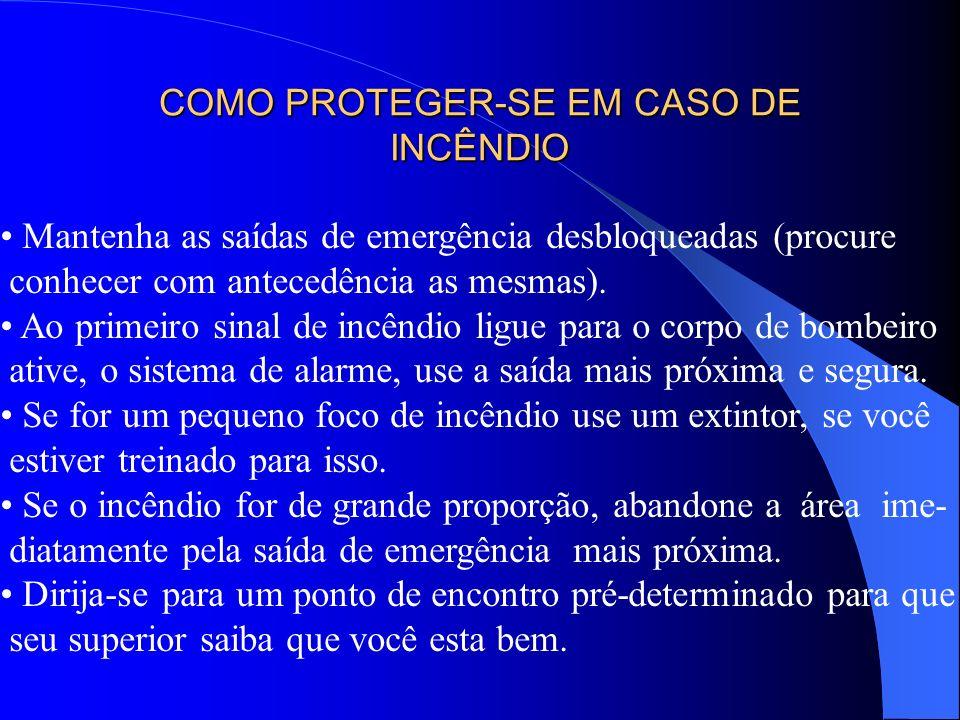 COMO PROTEGER-SE EM CASO DE INCÊNDIO