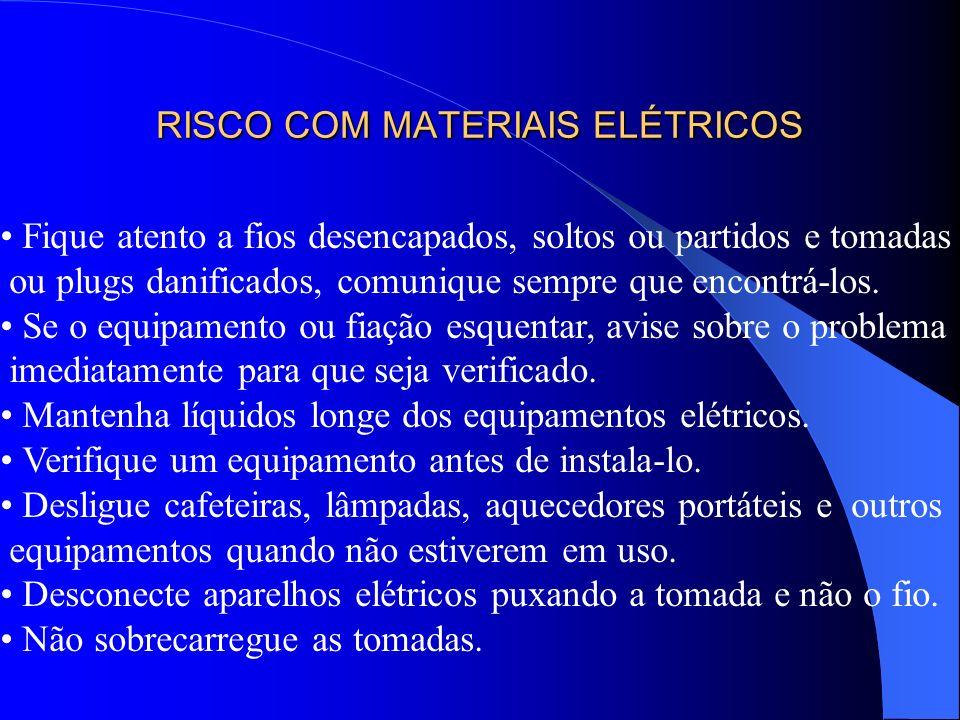 RISCO COM MATERIAIS ELÉTRICOS