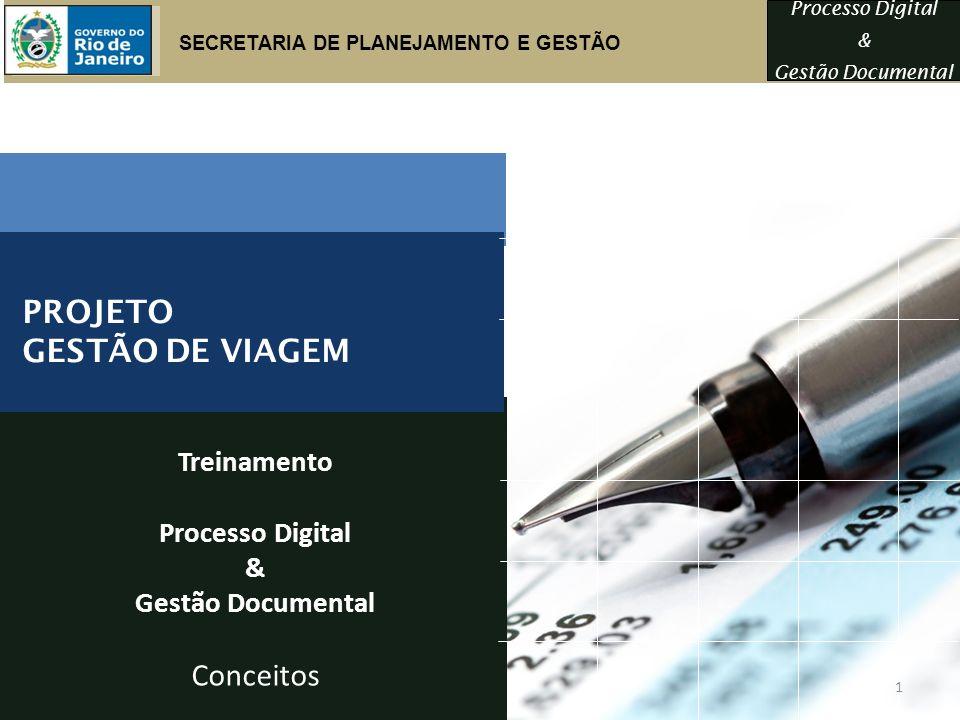 PROJETO GESTÃO DE VIAGEM Conceitos Treinamento Processo Digital &