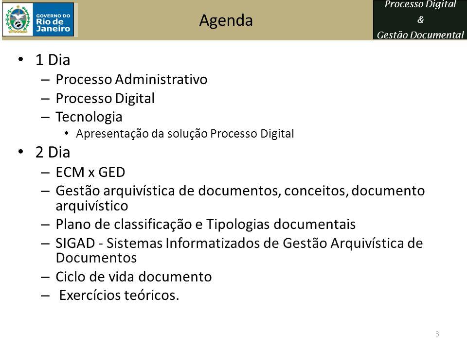 Agenda 1 Dia 2 Dia Processo Administrativo Processo Digital Tecnologia