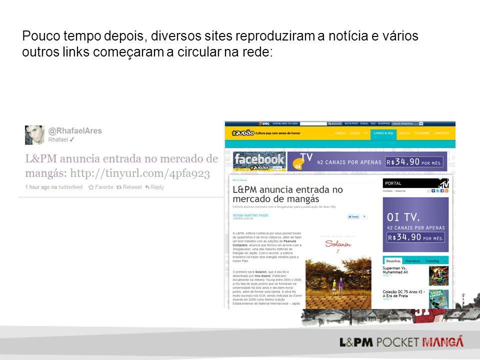 Pouco tempo depois, diversos sites reproduziram a notícia e vários outros links começaram a circular na rede: