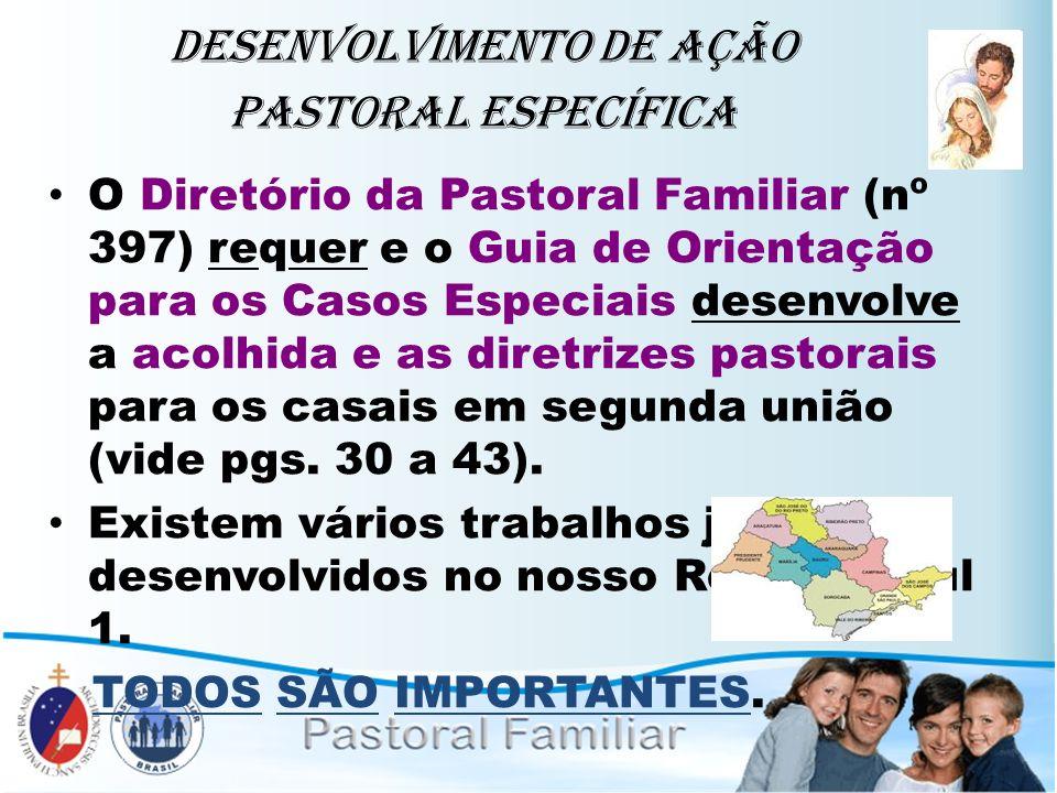 Desenvolvimento de ação Pastoral Específica