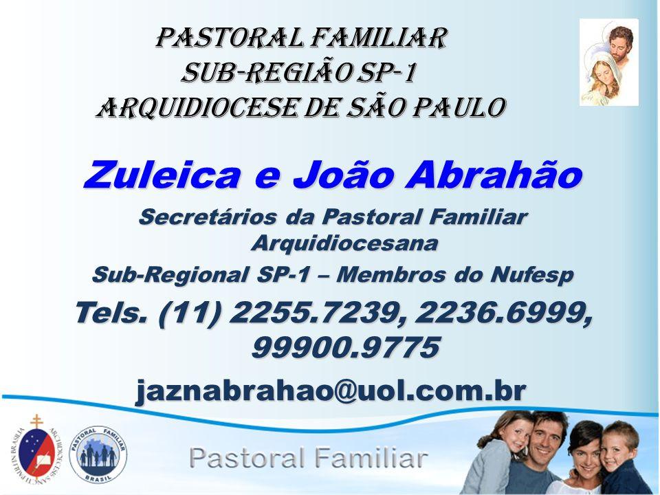 PASTORAL FAMILIAR Sub-Região SP-1 Arquidiocese de São Paulo