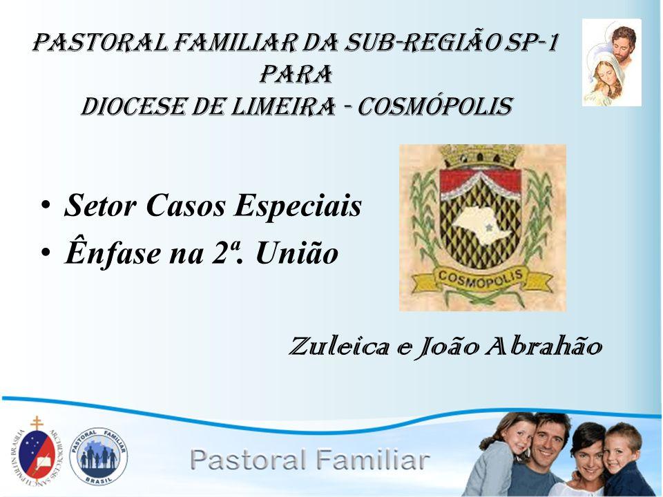 Setor Casos Especiais Ênfase na 2ª. União Zuleica e João Abrahão