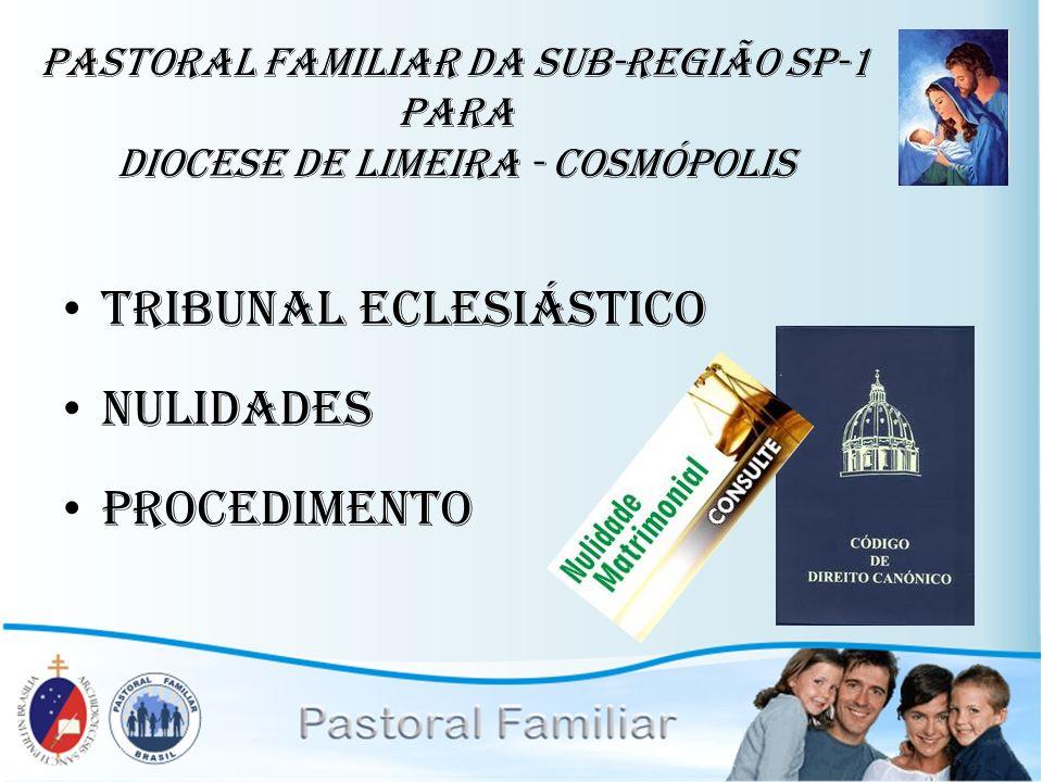 Tribunal Eclesiástico Nulidades Procedimento