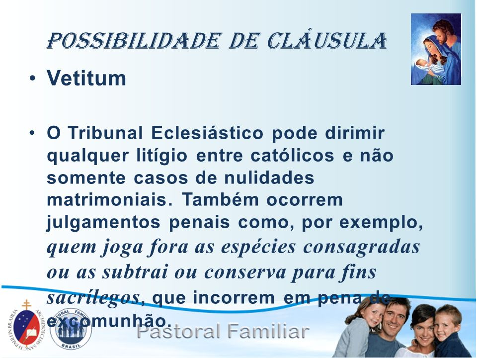 Possibilidade de Cláusula