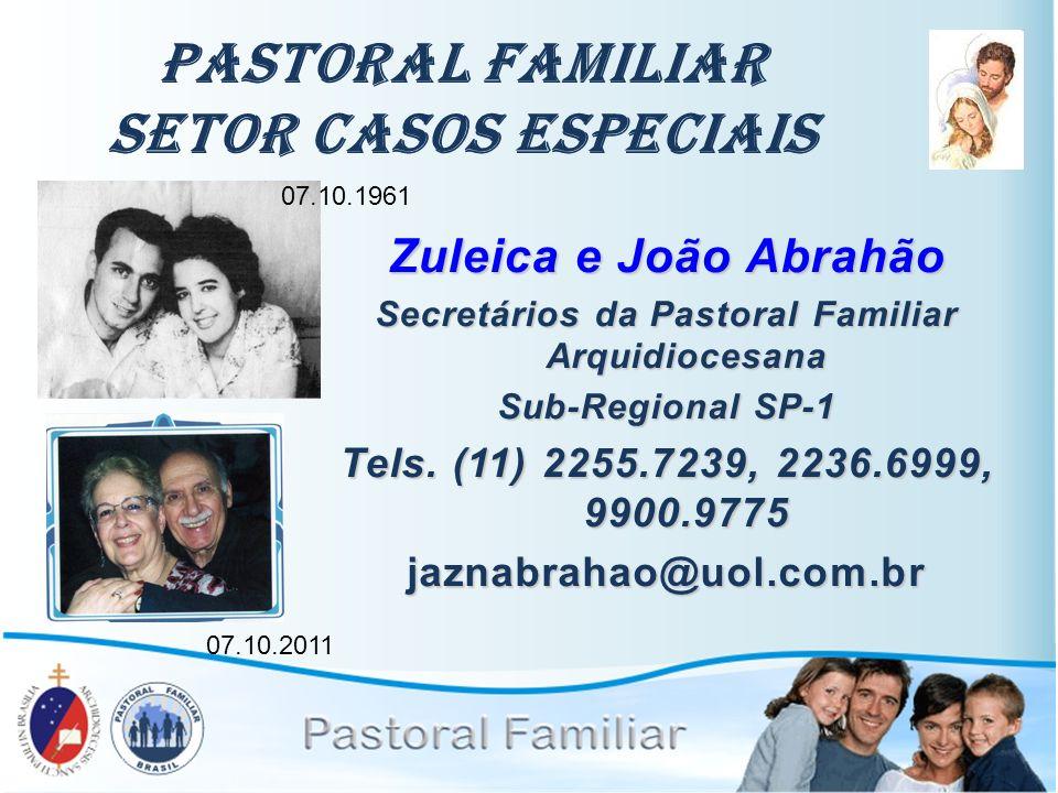 Pastoral Familiar Setor Casos Especiais