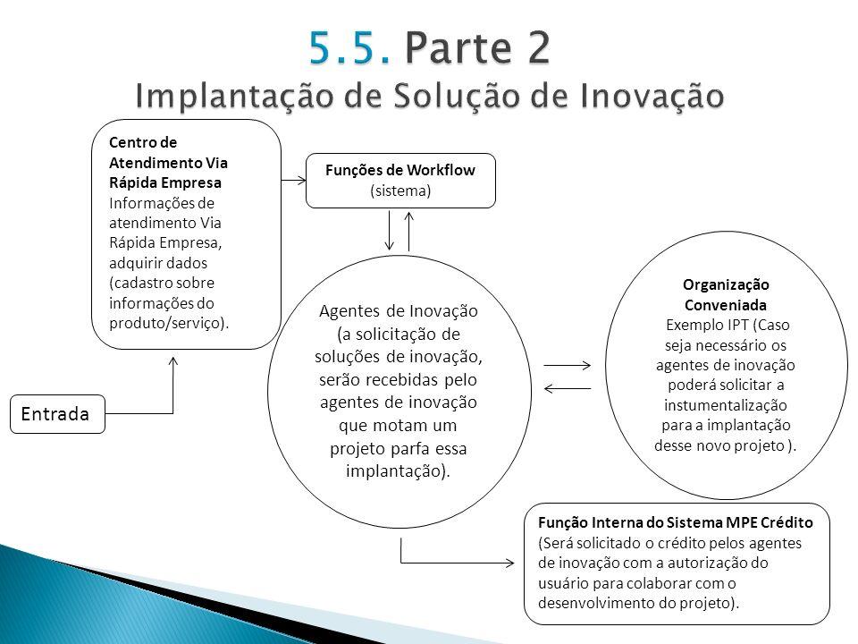 5.5. Parte 2 Implantação de Solução de Inovação